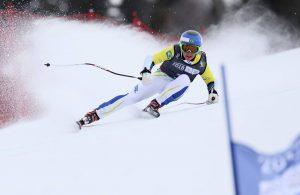 Brasileiro esquiando nas olimpiadas