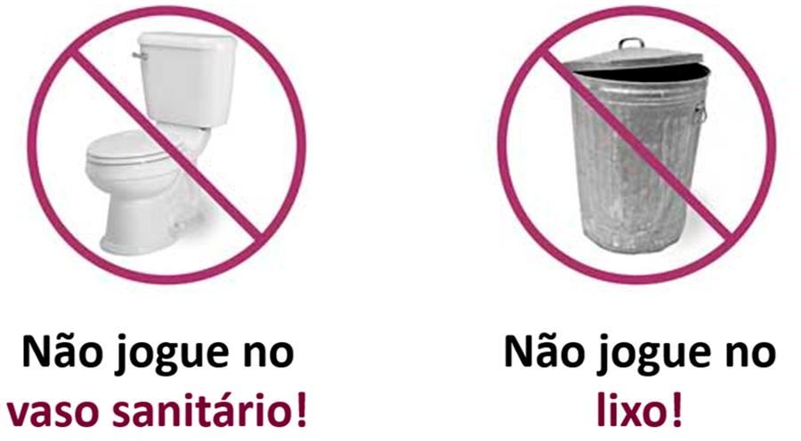 Não jogue os medicamentos no vaso sanitário nem no lixo comum
