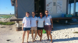 Troca de equipe - Luciana, Natália, Daniela e Vanessa