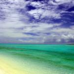 Praia da Ilha do Farol e laguna central durante maré alta
