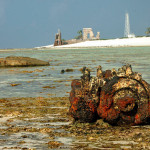 Restos de naufrágios e os farois